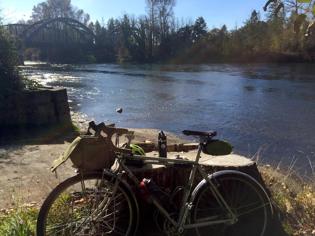 Santiam River in Jefferson