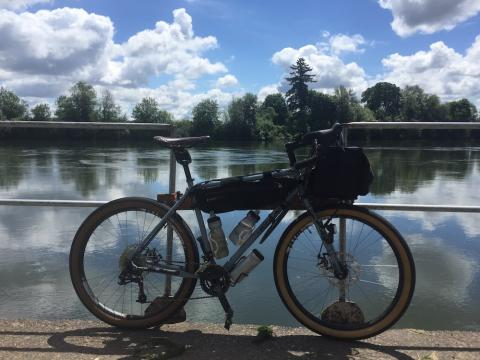 Bike and river