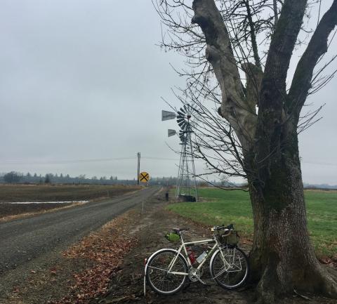 Lonley Railroad crossing