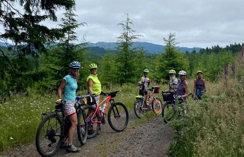 Riders on a ridge